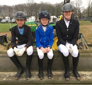 Das Springteam Finn, Antonia und Jana