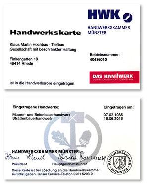 MartinBau - Handwerkskarte