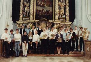 Mitwirkende Posaunenchor Penzberg Konzert 1989 in Habach