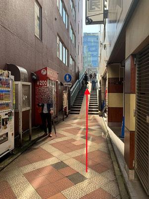 4)和民の横・JR高架に沿う「歩行者専用通路」へ入り神田川を渡る