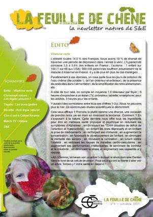 Feuille de chêne #3 - De sève et d'écorce - Newsletter nature