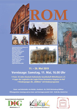 Plakat Rom - Veranstaltung der Deutsch-Italienischen Gesellschaft Mittelhessen e. V.