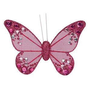 Organza Schmetterling mit Clip