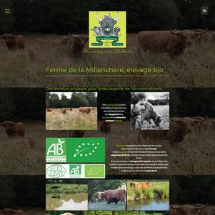 ferme bio de la millanchere, site internet créé avec e-cime.fr à Niort