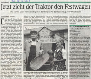 Bild: Chronik Seeligstadt 2003