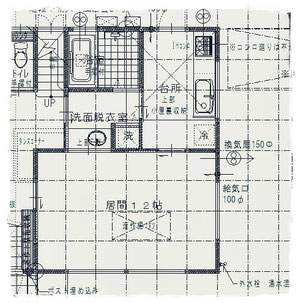 新築戸建住宅の平面図