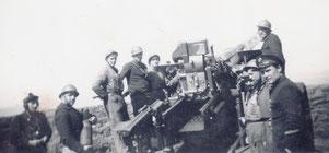Batterie de 155 mm long (de Montebourg-Ecausseville)au cap Gris Nez en avril 1940