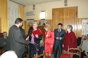 Вручение премиии от имени администрации Саратовской области