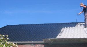 Asbestfasern binden, Dachabriß sparen, Neudach sparen, Neueindeckung, Dachdecker, Asbestfasern binden, versiegeln, Verwitterung verhindern, Neuanstrich, Neudach,