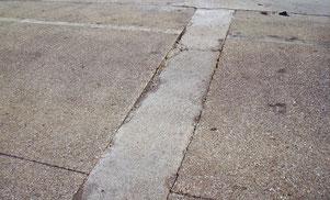 Betonböden verwittern. Frostschäden, Löcher in Betonböden, Bodenreparatur, Betonböden ausbessern, Betonböden reparieren
