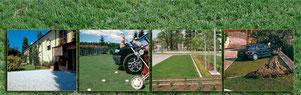 Durch den Einbau von Gitterplatten müssen Grün-Flächen nicht versiegelt werden und sind trotzdem nutzbar