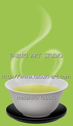 NRD2952伊右衛門 飲料 リアルイラスト お茶 緑茶