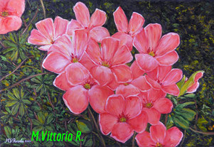 flowers oxalis, oil on canvas cm 40x60 2012