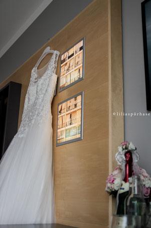 Brautkleid, le meridien hotel, Hamburg, liliaspoerhase, Hochzeit