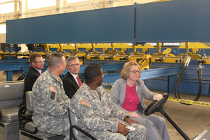 The Army Materiel Command's top civilian John B. Nerger, Executive Deputy to the Commanding General of the Army Material Command, was shown the FSW machine at the Rock Island Arsenal Joint Manufacturing and Technology Center on 14 December 2012.