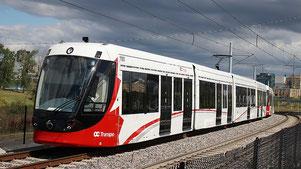Rührreibgeschweißter Alstom Citadis Spirit in Ottawa, Kanada
