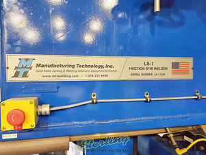 Logo of MTI, Manufacturing Technology Inc., LS-1 Friction Stir Welder