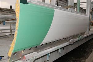 Die FSW-Aluminiumpaneele haben nach der Lackierung eine ausgezeichnete Oberflächengüte und geringen Verzug