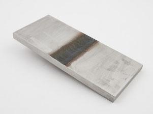 Muster einer von TWIs ersten Rührreibschweißungen von 12% Chromstahl im  Londoner Science Museum