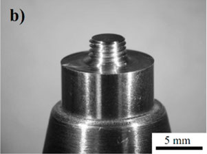 Konventionelles FSW-Werkzeug mit rechtshändigem Gewinde
