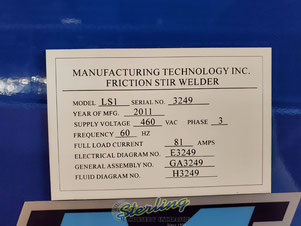 Model LS1, serial number 3249, year of manufacturing 2001