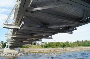 Rührreibgeschweißte Fußgängerbrücke über den Petite Decharge River