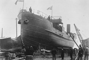 Fullagar, the world's first fully welded ship, on 5 February 1920