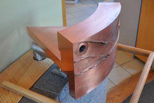 Muster eines rührreibgschweißten 50 mm dicken Kupferbehälters im Äspö Hard Rock Laboratory, Sweden