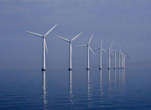 Der Middelgrunden-Offshore-Windpark im dänischen Öresund (Leistung:  40 MW)