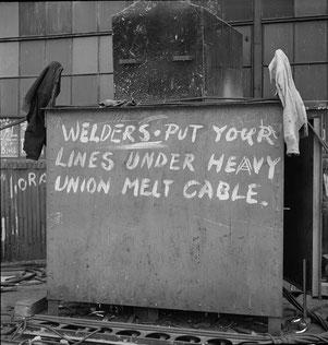 Schweißer: Verlegt Eure Kabel unter dem schweren Union-Melt-Kabel