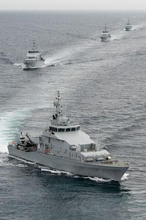 HMNZS Hawea (P 3571), HMNZS Pukaki (P 3568), HMNZS Rotoiti (P 3569) und HMNZS Taupo (P 3570) der Neuseeländischen Marine