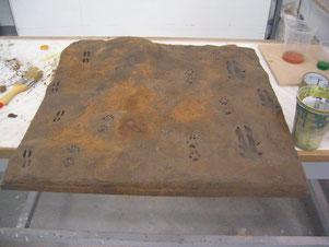 Huellas de Animales, preparación de un panel didáctico