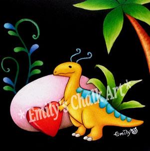 Tiny Dino with a sweet heart