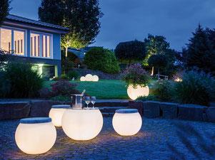 Beleuchtung für Terrasse und Biergarten