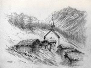Nr.2117  Kapelle Kühmatt im Lötschental VS