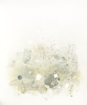 アクリル絵画 ディテール 表面 水滴