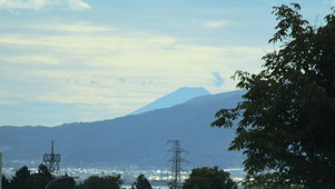 ④ 富士が見えてくれば諏訪湖到着です