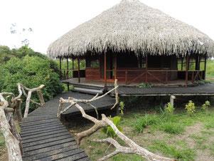 Uno de los encantadores espacios formativos del Cashibo EcoLodge