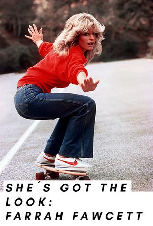 Farrah Fawcett auf dem Skateboard - Look