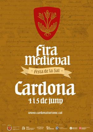 Programa de la Fira Medieval en Cardona