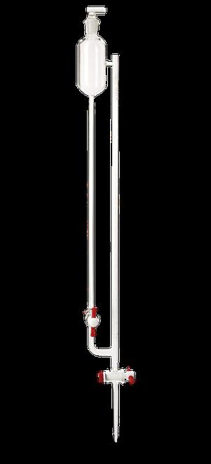 Micro bureta clase A con tubo de alimentación y envase reservorio de 70 ml 17132F