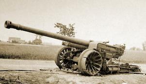 Canon long de 155 mm qui va équiper 2 batteries lors des combats de mai et juin 1940.