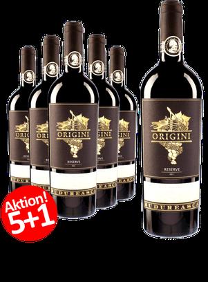 6-er Weinpaket Budureasca Origini Reserve-Cuvee 2015