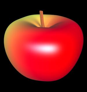 3D Apfel aus Parameterflächen