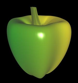 3D Paprika aus Parameterflächen