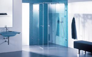 Duschwände - egal ob privat oder in Hotels, Krankenhäusern, Sanatorien, Sportanlagen etc. sind leichter zu reinigen