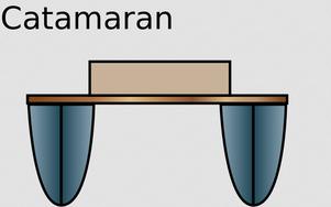 Katamaran (Ansicht von vorne)