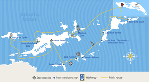 Route plan of caribbean package at Yacht-Holiday
