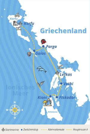 Griechenland Routen von YACHT-URLAUB
