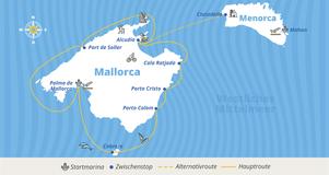 Balearen-Package Routenplan bei YACHT-URLAUB